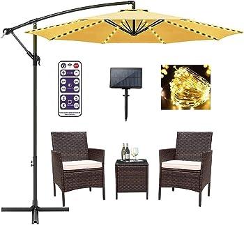 POOCCI Solar Patio Umbrella Lights