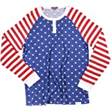 Tipsy Elves Men's American Flag Henley Shirt