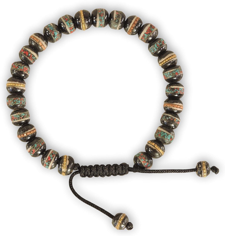 Hands Of Tibet Embedded Medicine Bracelet Yoga Healing Beads Adjustable Wrist Mala Many Color Choices