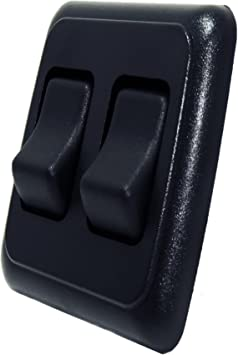 Camper American Technology Components Quad SPST On-Off Switch with Bezel Trailer 12-Volt Black for RV