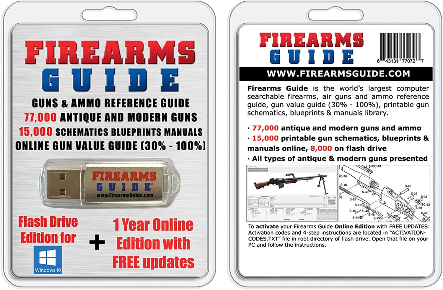 Firearms Guide 11th Edition - Guns Reference Guide & Gun Values & 17,000 Manuals, Schematics, Blueprints