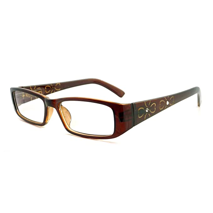 91ab1aaf06e Image Unavailable. Image not available for. Color  ITALY Design Trendy Rx  Women Rectangular Frame Clear Lens Eye Glasses ...
