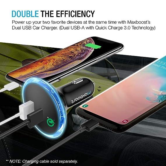 Amazon.com: Cargador de auto tipo C, Maxboost 36W ...