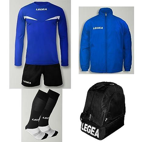 c9941943fe96 LEGEA Kit Calcio Vienna Calza + Borsone E K-Way Calcetto Allenamento  Completino Borsa Impermeabile