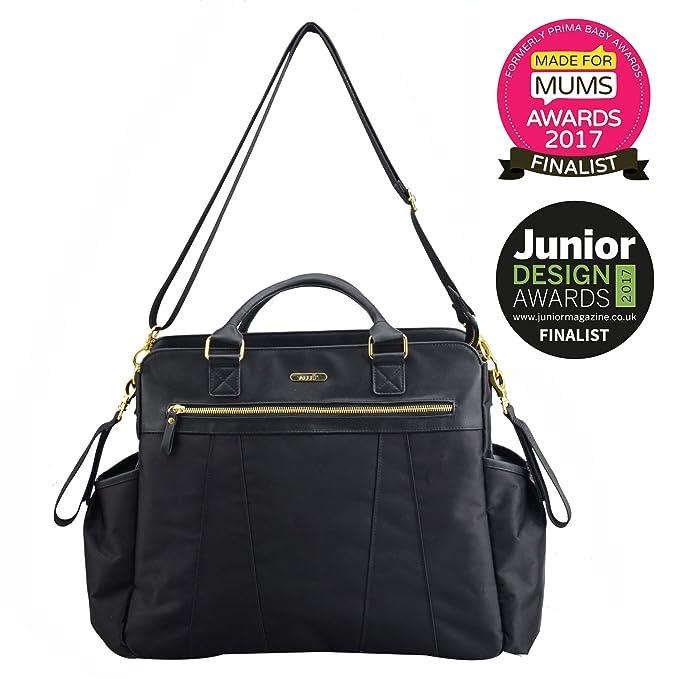 f878372418ca Allis Luxury Changing Bag Nappy Bag Diaper Tote Puls (Black)  Amazon.co.uk   Baby