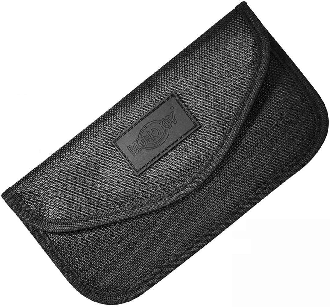 Black, 6X4X3 Signal Blocking Key Fob for Blocking Faraday Car Key Signal,Large PU Leather Faraday Car Key Fob Protector Box Getfitsoo Signal Blocker Box