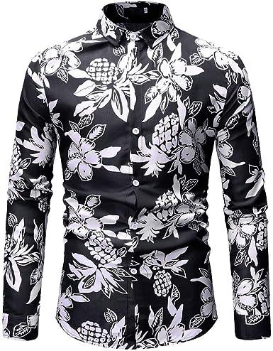 Felpa Tops Uomo Hanomes - Camisa Casual - para Hombre Negro M: Amazon.es: Ropa y accesorios