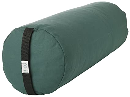 Amazon.com : Bheka Round 100% Cotton Yoga Bolster Forest ...