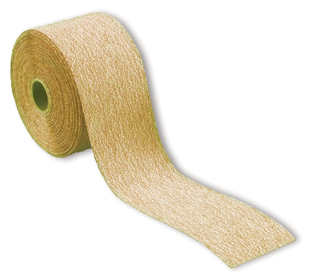 Karebac RHS80 80 Grit 2-3//4-Inch Gold PSA Rolls Stearated Aluminum Oxide 2-3//4-Inch x 25 Meters