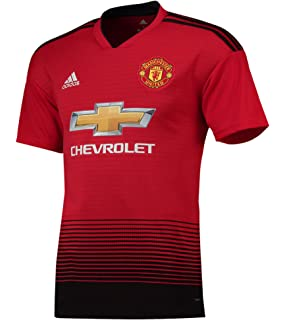 ed3159766c9 Manchester United FC Official Football Gift Mens Home Kit Shirt 2018 2019  Red