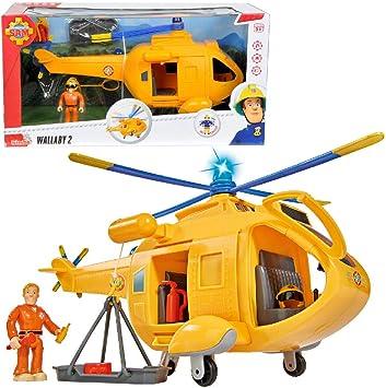 Simba 109251661 Feuerwehrmann Sam Hubschrauber Wallaby