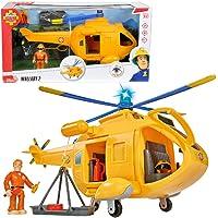Sam El Bombero - Simba 9251002 Wallaby helikopter med figur, 34 cm