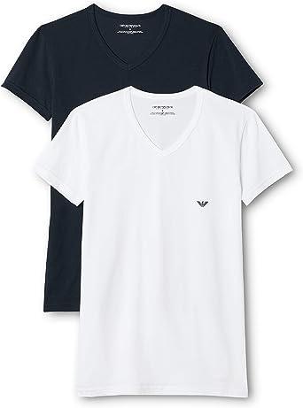 Emporio Armani, Camiseta Interior para Hombre (Pack de 2 ...