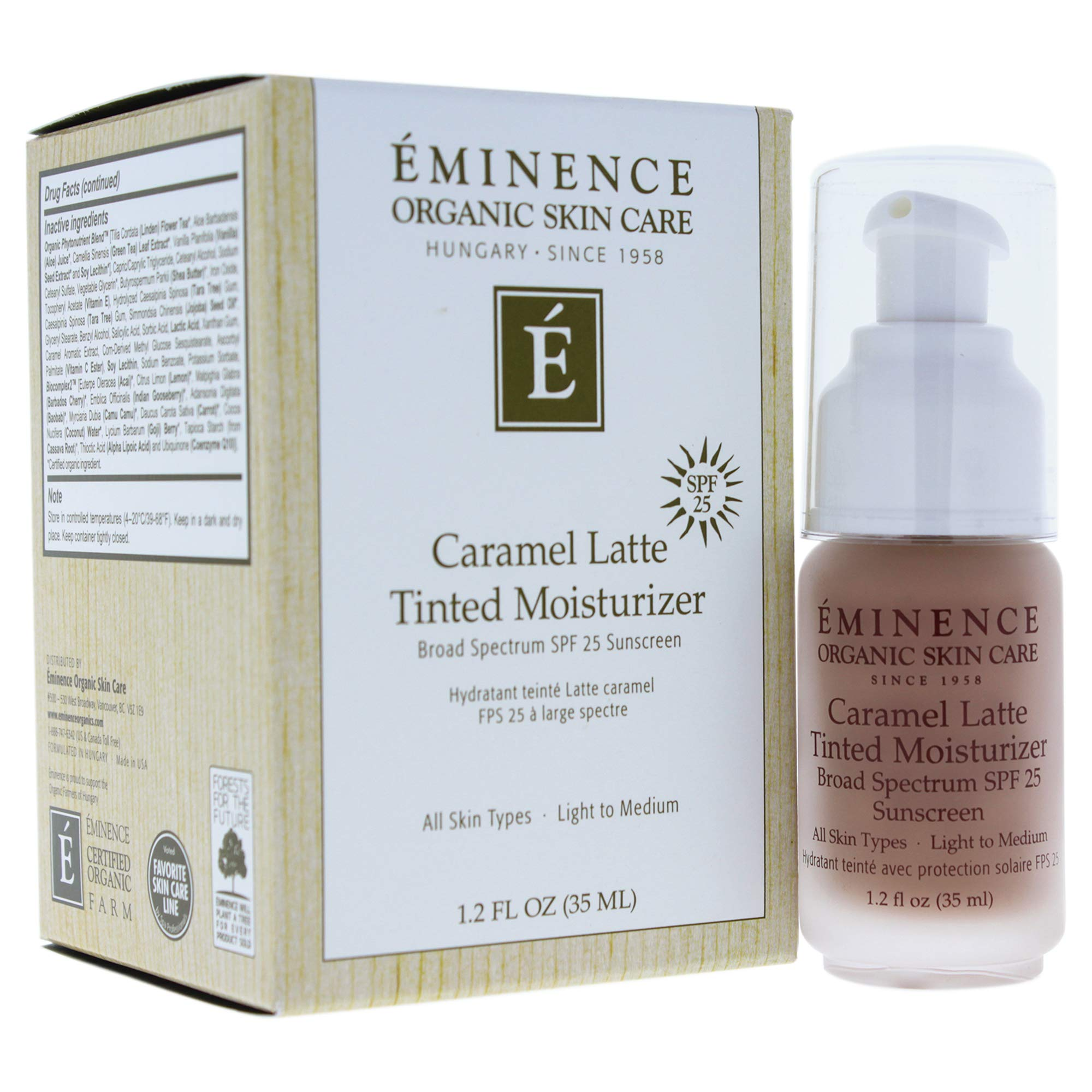 Eminence Caramel Latte Tinted Moisturizer Spf 25 (Light To Medium), 1.2 Ounce by Eminence