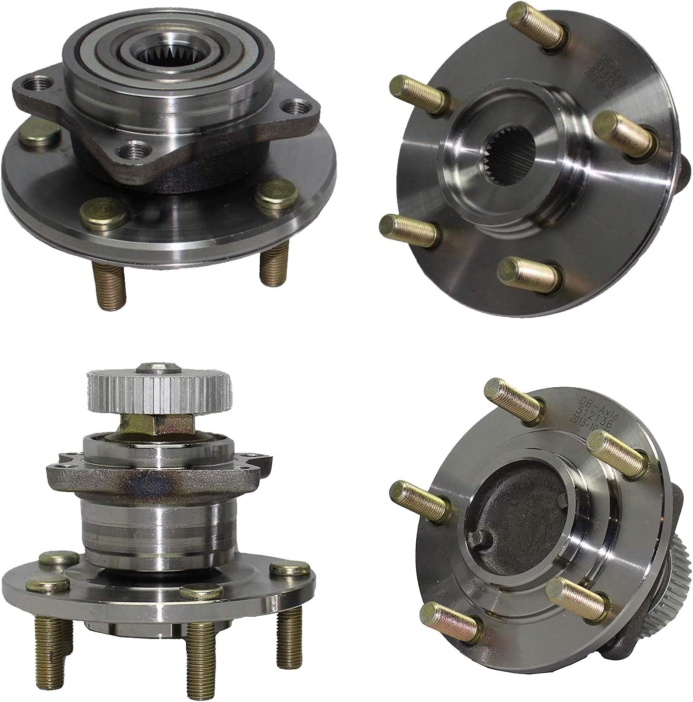 5 Lug Eclipse 2 Door Coupe Front Wheel Bearing and Hub Assembly Compatible With Chrysler Sebring Dodge Stratus 2.4L L4 Pair TUCAREST 513157 x2 Avenger Eagle Talon Mitsubishi Galant