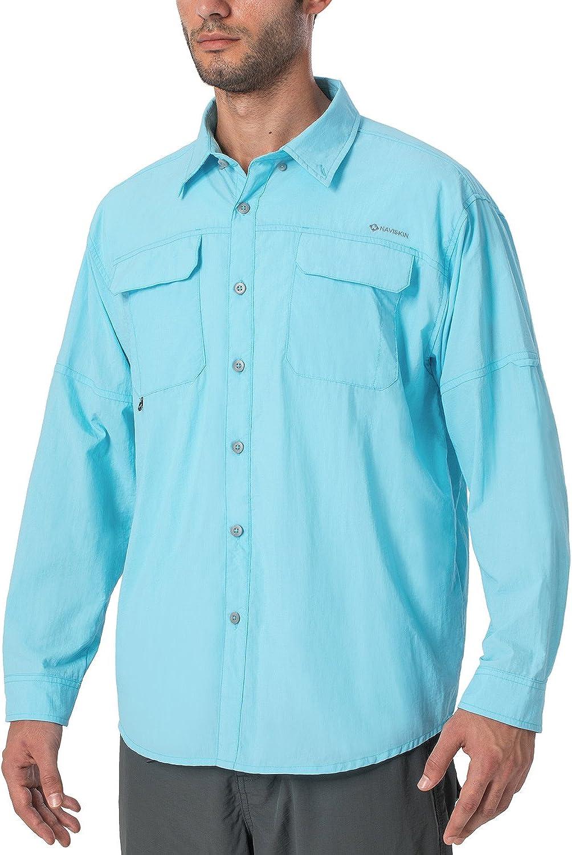 Naviskin Men's UPF 50+ Sun Protection Hiking Fishing Shirt Lightweight Quick Dry SPF Outdoor Long Sleeve Shirt at  Men's Clothing store