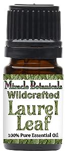 Miracle Botanicals Wildcrafted Laurel Leaf Essential Oil - 100% Pure Laurus Nobilis - 10ml or 30ml Sizes - Therapeutic Grade (5ML)