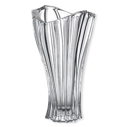 Amazon Czech Bohemian Crystal Glass Vase Plantica H 12 Clear
