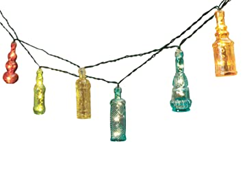 solar led string lights 5 inch fairy light bottles 7 feet apothecary bottles apothecary style furniture patio