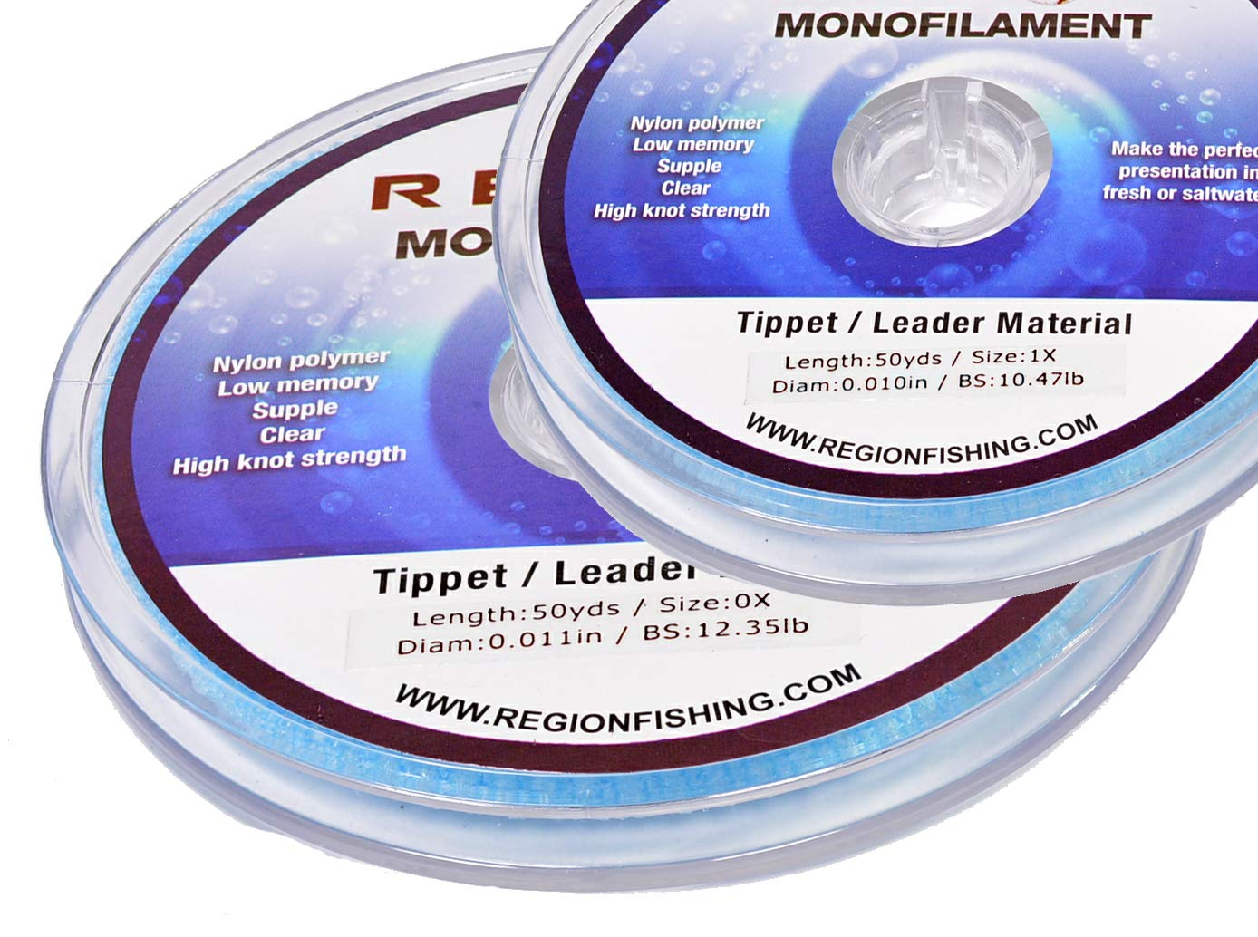 50yd Fluorocarbon Fly Fishing Tippet Ultra Clear 0X to 7X Choose a 3 Spool Set