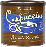 Victorian Inn Instant Cappuccino, French Vanilla, 16-Ounce Canisters (Pack of 6)