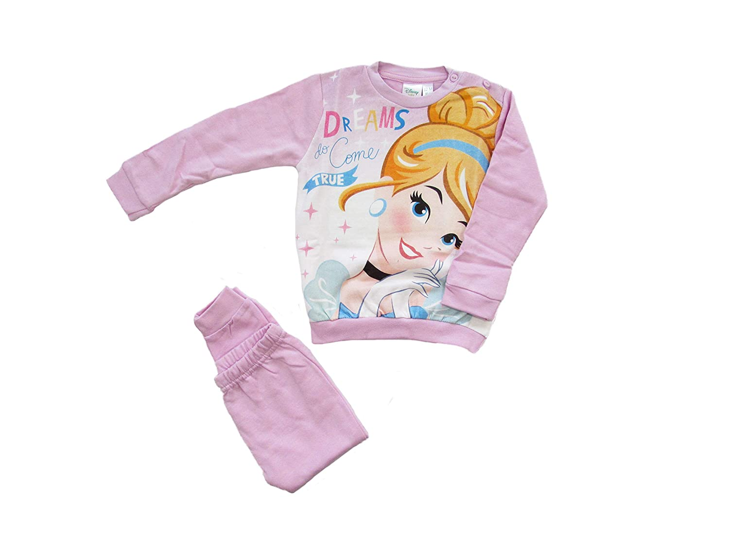 ARNETTA Disney Baby Pigiama neonata Princess Invernale, Felpato all'Interno - Art. 45724 Felpato all' Interno - Art. 45724
