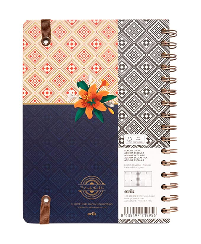 Frida Kahlo Weekly Planner, Dated Middle School or High School Student Planner for Academic Year 2019-2020, 12 Months (August 2019 Through July 2020), ...