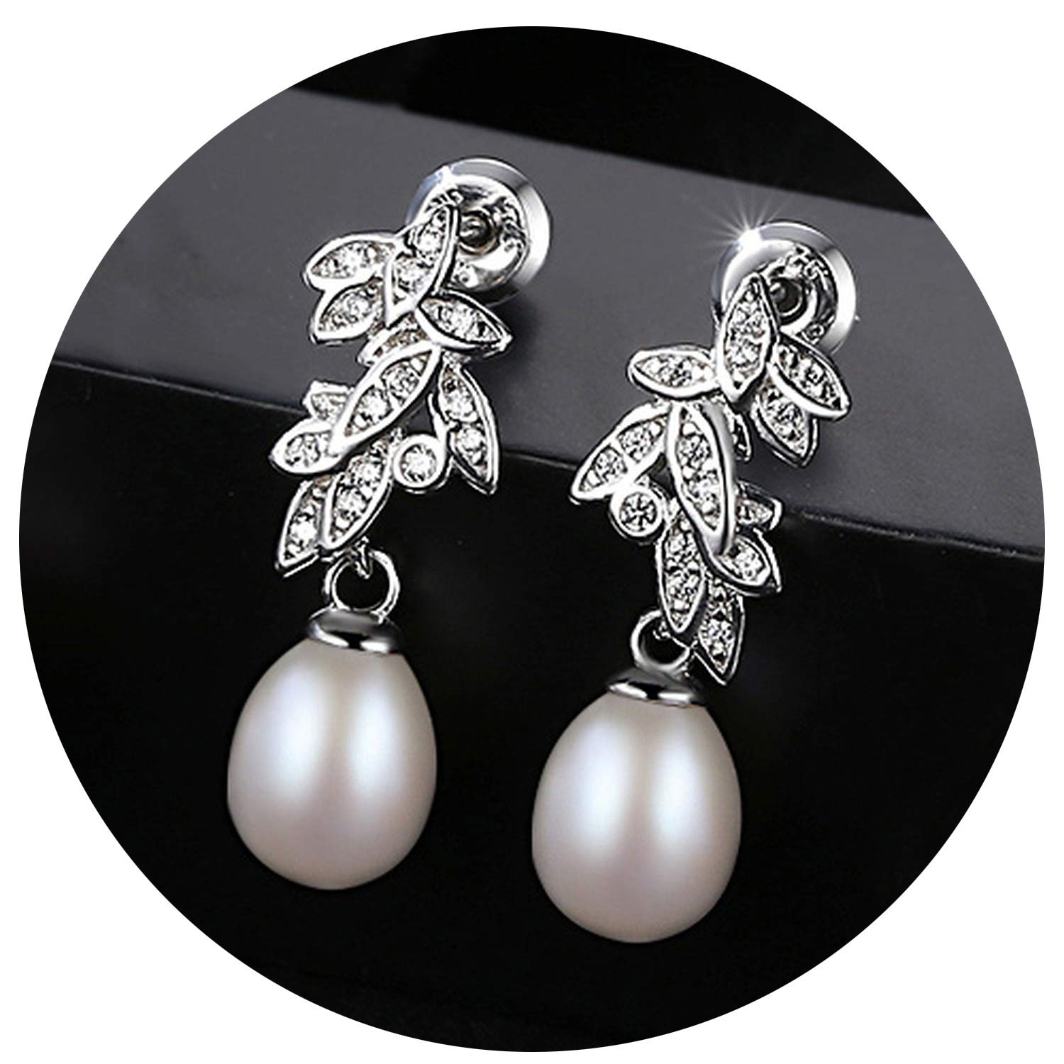 Bohemia Korean Style Natural Water Pearls Earrings And Made Of 925 Sterling Silver