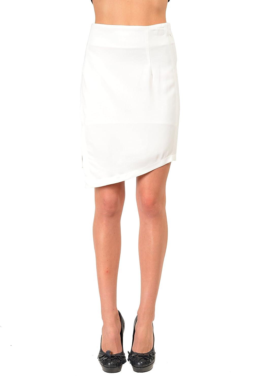 fd1950110b Just Cavalli White Women's Asymmetrical Skirt US S IT 40 at Amazon Women's  Clothing store: