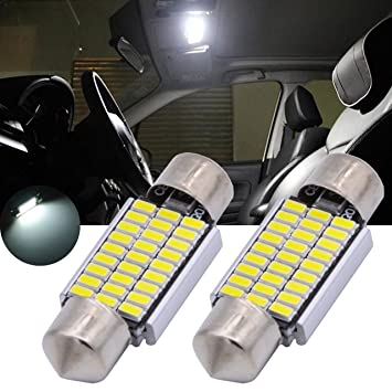 TUINCYN Bombillas LED 18 SMD 3014, 31 mm, chips LED, luz interior del