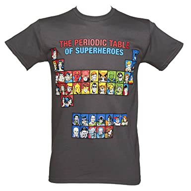 Mens charcoal superheroes periodic table t shirt amazon clothing mens charcoal superheroes periodic table t shirt urtaz Choice Image