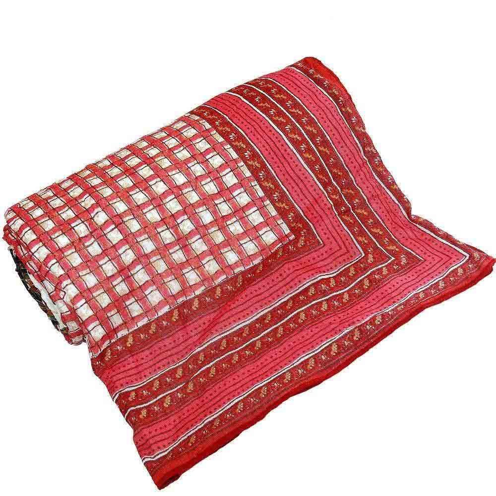Little India Hand Block Chequered Style Double Bed Comforter 310