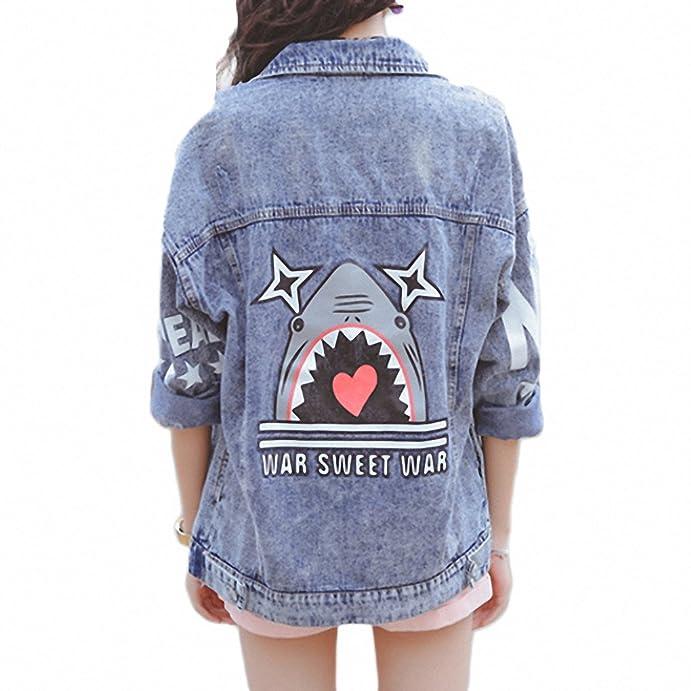 Women Fashion Classical Jeans Coat Long Sleeve Casual Jaqueta Feminina at Amazon Womens Coats Shop