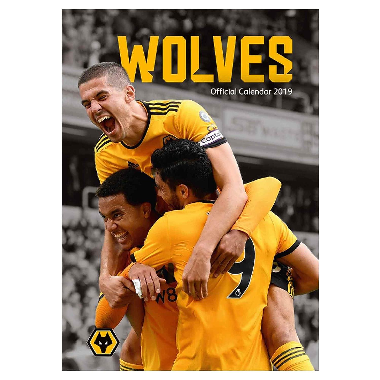 quality design e1431 1aa6f Wolverhampton Wanderers Official (Wolves Premier League) 2019 Football  Calendar A3