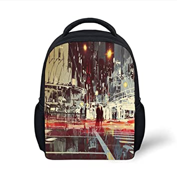 9aee0f12300b Amazon.com: iPrint Kids School Backpack Modern,Urban City Streets at ...