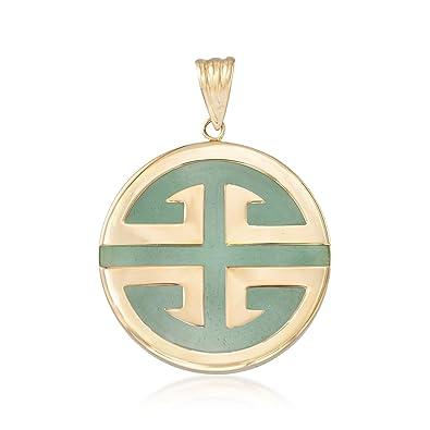 Amazon Ross Simons Green Jadeite Jade Longevity Chinese Symbol