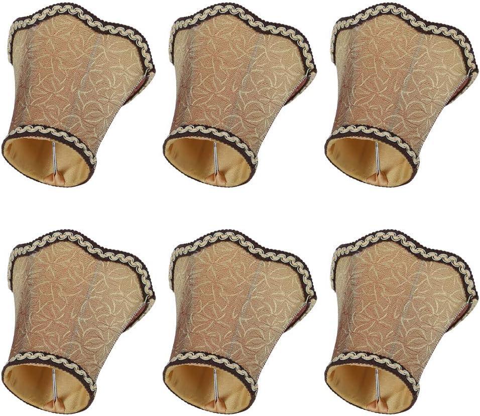 JJ Accessory 6 Pezzi in Tessuto Stile Europeo Clip in Tessuto sul Paralume Copertura della Luce per luci E14 lampadari Applique da Parete Decorazione Artistica