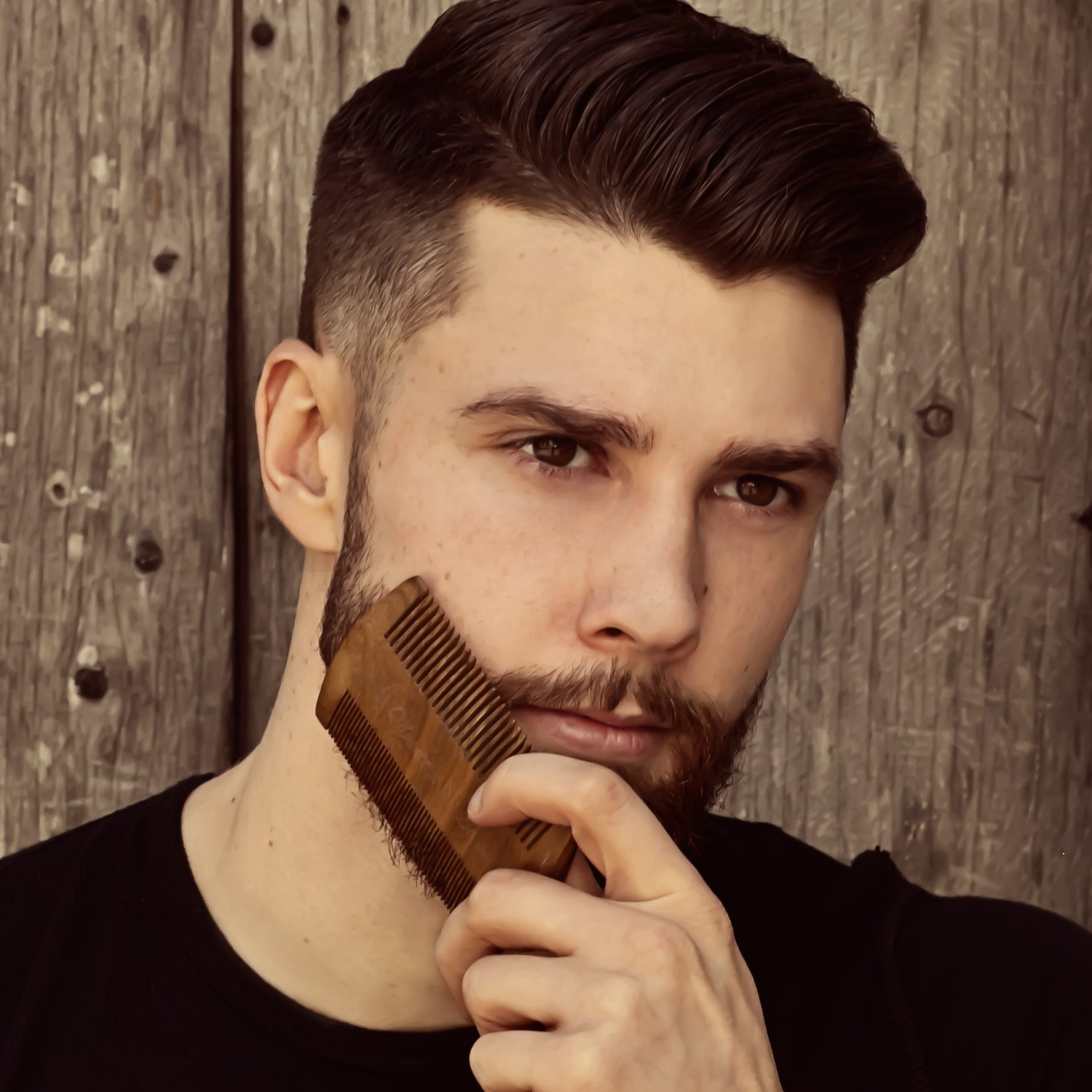 Beard Comb - Natural Sandalwood for Hair with Scented Fragrance Smell with Anti-Static - Handmade Fine Tooth Brush Best for Beard Moustache Packaged in Giftbox by Rocky Mountain Barber Company (Image #4)