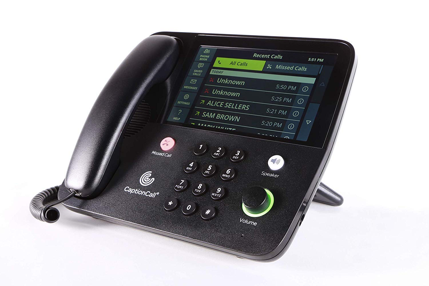 CaptionCall 67Tb Amplified Captioned Corded Home Telephone Touch Screen, 58dB Amplification, Caller ID, Answering Machine, Bluetooth, Loud Ringer Hearing Impaired by CaptionCall (Image #3)