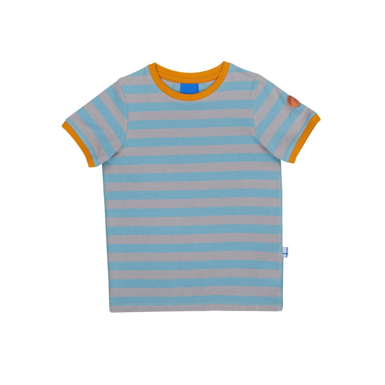 Finkid Renkaat river storm Kinder Blockstreifen Jersey T-Shirt mit UV-Schutz 3041024
