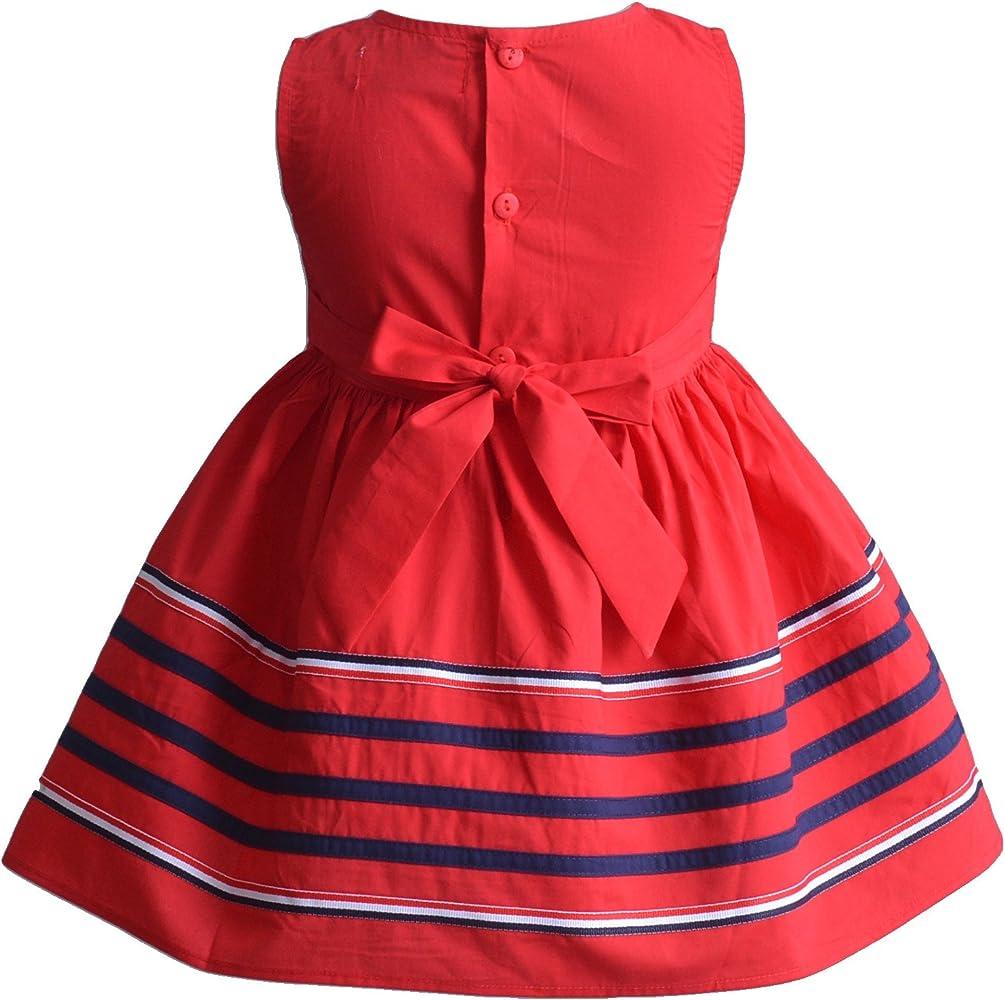Cinda Las niñas de Rayas de algodón Vestido de Fiesta de Verano ...