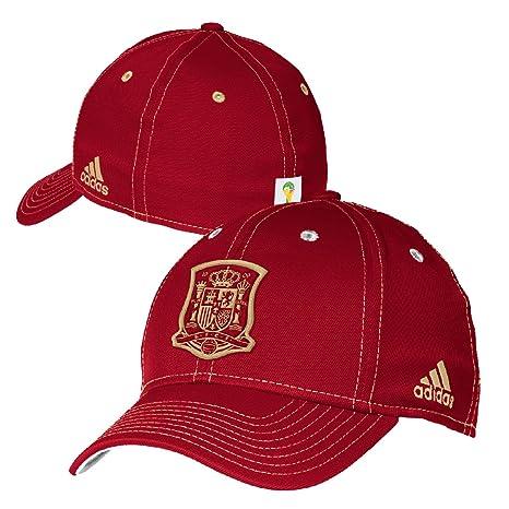 3ef55d29374 Spain Soccer 2014 FIFA World Cup Solid Logo Flex Fit Hat   Cap Small    Medium
