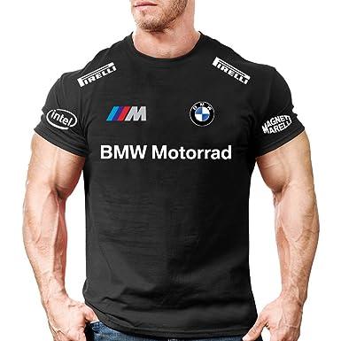 Herren T Shirt Bmw Motorrad Rally Racing Shirt Personalisert Schwarz