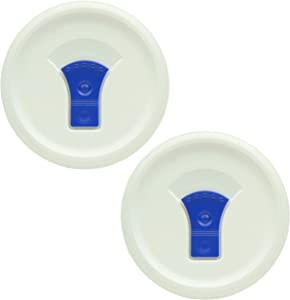 Corningware FW16 French White Lid with Vented Blue Tab Casserole Replacement Lid - 2 Pack