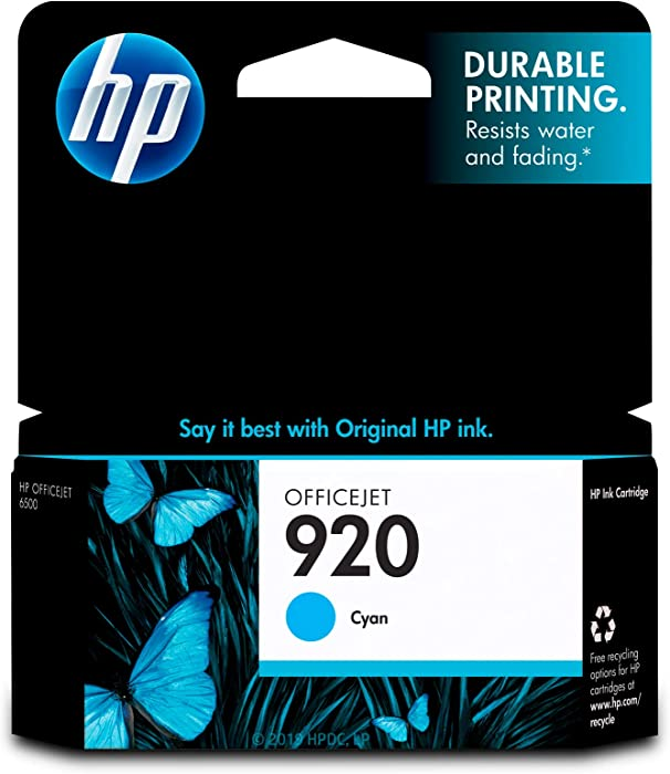 HP 920 | Ink Cartridge | Cyan | CH634AN, Standard