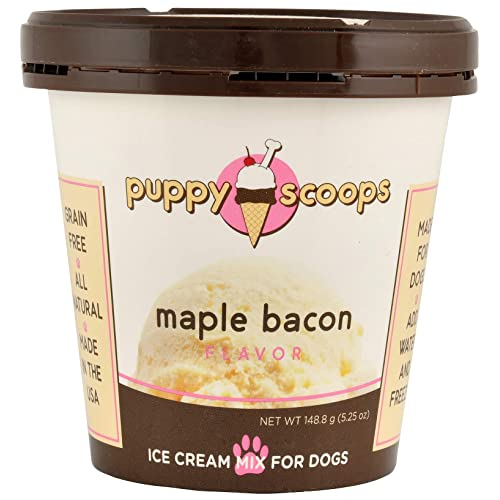 Puppy Scoops Ice Cream Mix For Dogs Maple Bacon