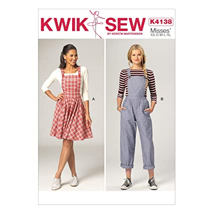8695ce66d9a5ad Amazon.com  KWIK-SEW PATTERNS K4138 Misses  Jumper   Jumpsuit