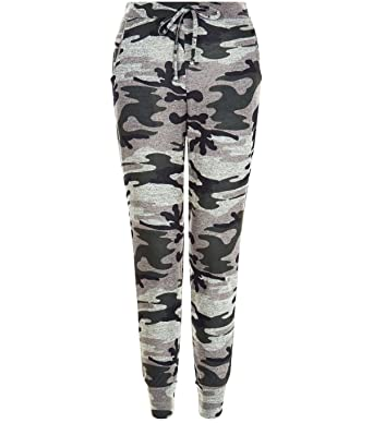 00fcb1a3a59b3 Unogal Clothing Womens Ladies Camouflage Army Loungewear Set Sweatshirt  Joggers Tracksuit Pants (M/L 12-14, Camouflage Bottoms Only): Amazon.co.uk:  Clothing