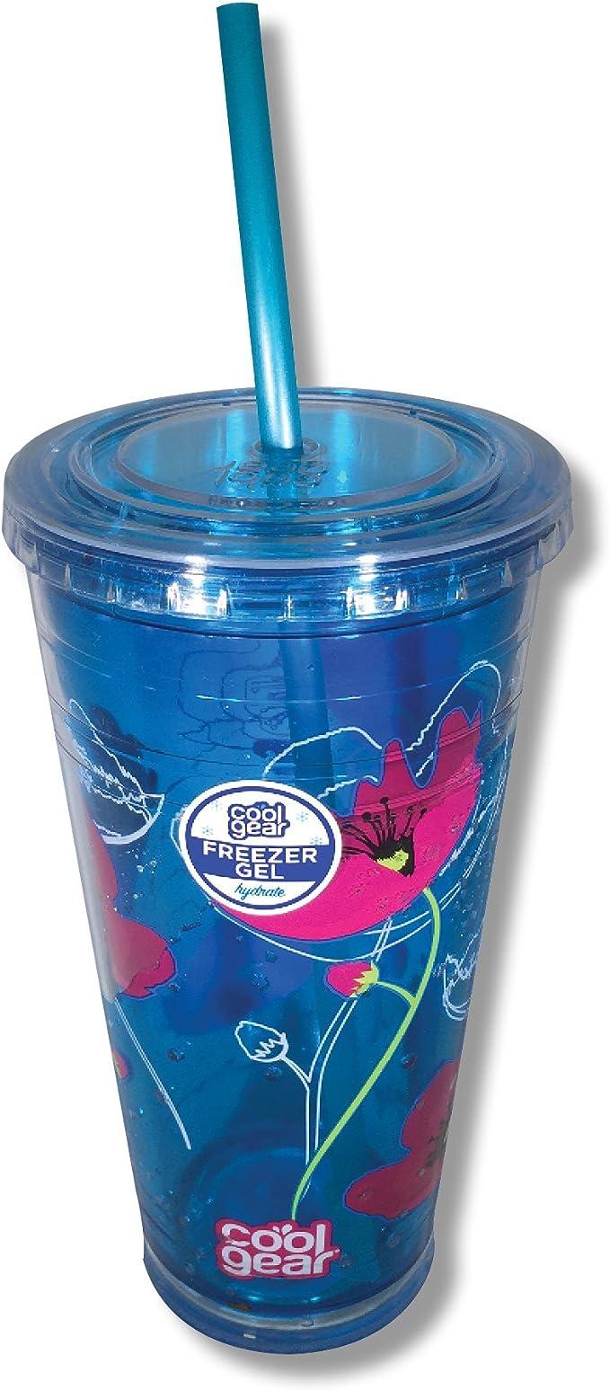 Cool Gear 24 oz Gel congelador vaso de refrigeración (azul con ...