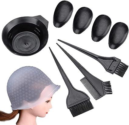 QULiTAN - Pinceles para teñir el cabello, pack de 10 unidades ...